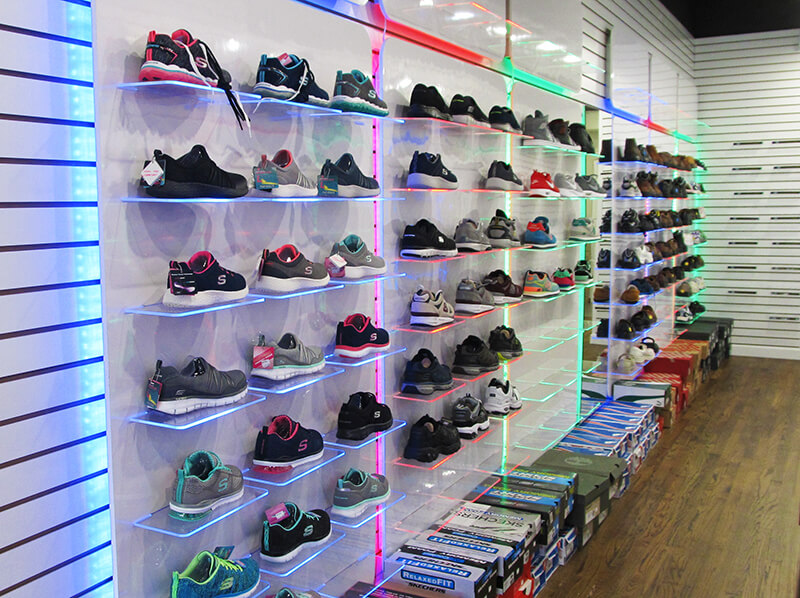Shoe brands that specialize in orthopedic and diabetic designs at Bergen Care Pharmacy in Fort Lee, NJ