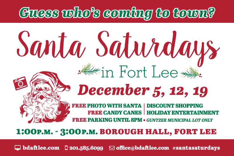 Santa Saturdays in Fort Lee