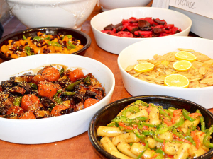 Tasty offerings at Motjoeun Catering House in Fort Lee, NJ