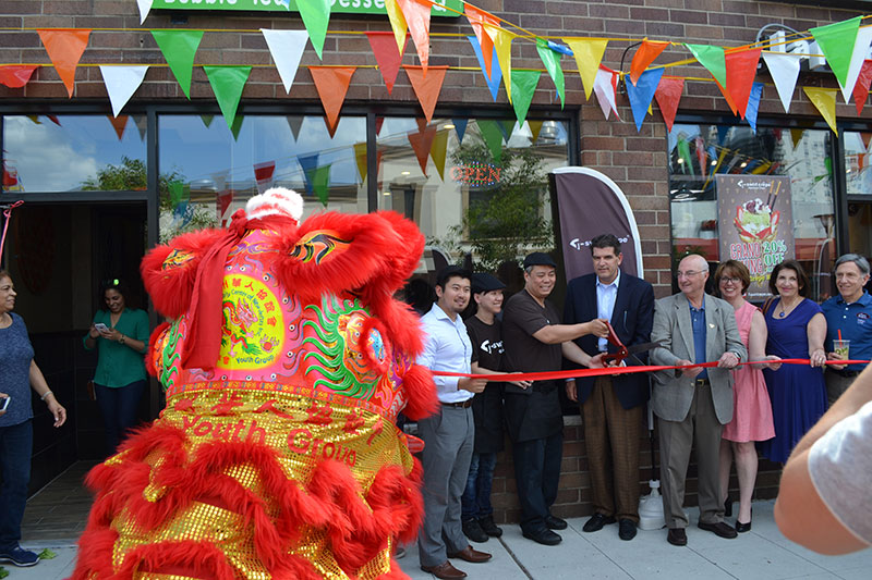 T-Swirl Crepe & Q Tea Tapas ribbon cutting in Fort Lee